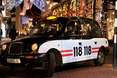 118 118 launches fleet of free cabs for London revellers