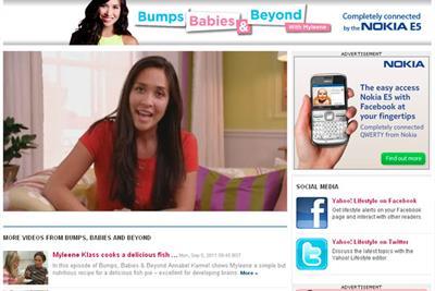 Yahoo secures Nokia for Myleene Klass baby show
