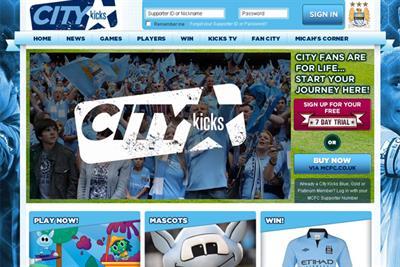Man City launches kids' website City Kicks with John Brown
