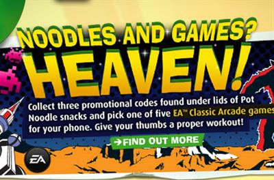 Pot Noodle ties in with EA for mobile games promotion