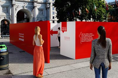 ActionAid builds maze to illustrate barriers women face in accessing justice
