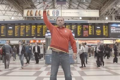 Welsh rugby sponsor springs cheeky choir flashmob in central London