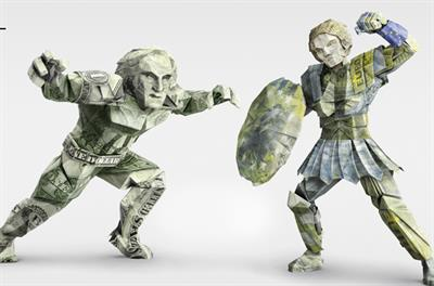 Currency wars meets origami in Alpari FX trading ad campaign