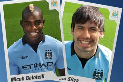Man City virtual sticker app swaps footballers for fans