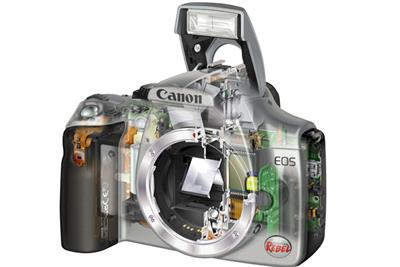 Which digital camera brand is most prominent online? Brand barometer