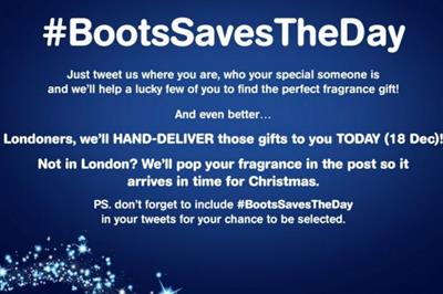 Boots launches one-day fragrance delivery service