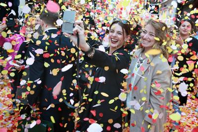 In pictures: Boots' Petal Party on London streets