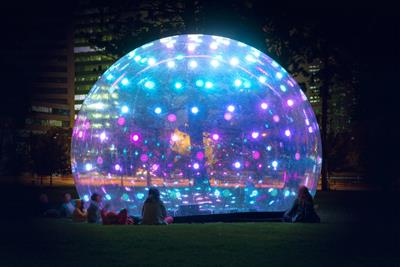Winter lights festival returns to Canary Wharf