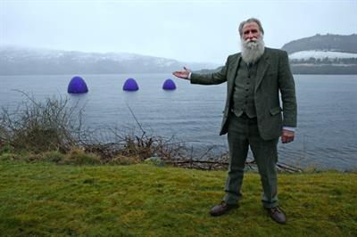 In pictures: Cadbury lands giant eggs in the Loch Ness