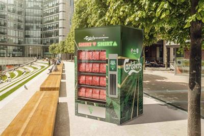 Carlsberg gets behind Euros with shirt for a shirt activation