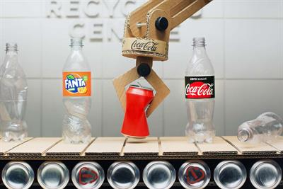 Coke dishes out verbal pun-ishment in quirky animated love story encouraging recycling