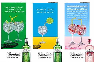 Diageo launches data-responsive outdoor campaign for five brands