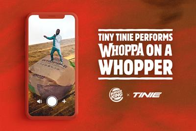 Burger King brings tiny Tinie to fans for Whopper show