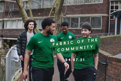 Nike's Grenfell football kit weaves into estate for pro bono spot