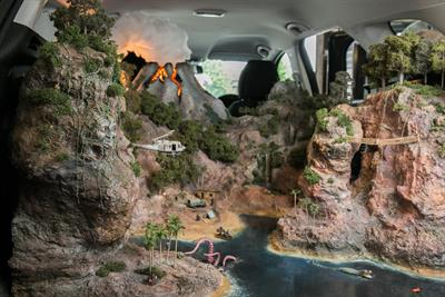 Fiat fills car with miniature film set replicas in first ever cinema activation