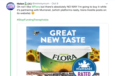Flora pulls out of Mumsnet partnership after transphobia complaints