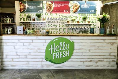 HelloFresh opens pop-up shop in London