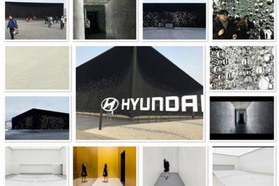 Hyundai's Olympic experience is dark. Extremely dark