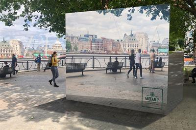 Greenall's gin battles the scourge of warm G&Ts with giant ice cube installation