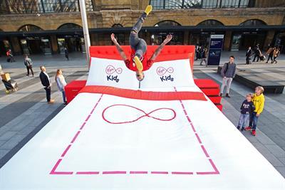 Watch: Virgin Media's giant trampoline bed
