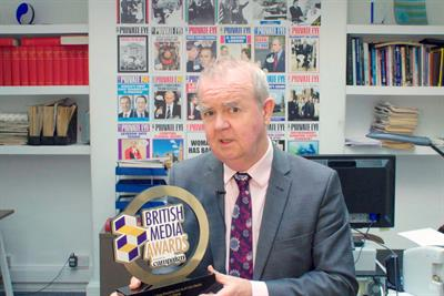 Private Eye's Ian Hislop recognised for outstanding contribution to British Media