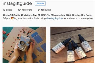Instagram hosts Christmas fair