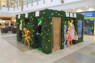 In pictures: Intu unveils fashion focused garden installation