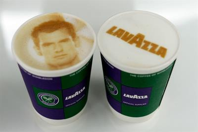 In pictures: Lavazza offers coffee selfies to the Wimbledon queue