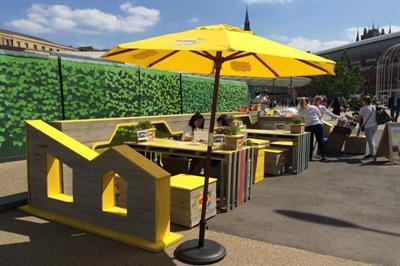 In pictures: ID devises 'parklets' alongside Lipton Ice Tea's Daybreaker series