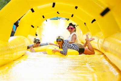 In pictures: Lipton Ice Tea's giant slide takes over London