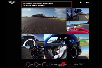 Mini creates nine-screen interactive film to promote 'most powerful' car to date