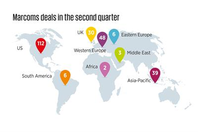 WPP tops M&A table as deals increase in second quarter