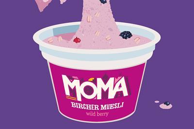Moma launches campaign for new bircher muesli pots