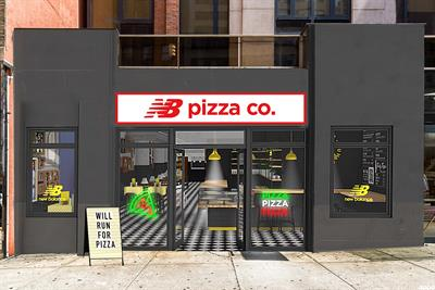 New Balance exchanges runners' miles for pizza