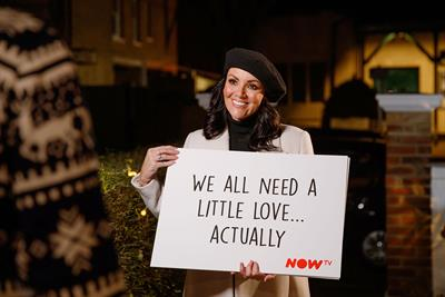 Now TV enlists Martine McCutcheon to launch Love Actually-inspired greetings experience