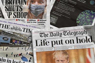 Brands urged to 'back, not block' British journalism amid coronavirus crisis