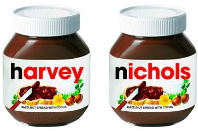 Nutella launches pop-up at Harvey Nichols