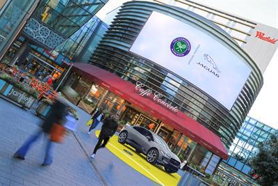 Jaguar sponsors Ocean Outdoor's Wimbledon coverage