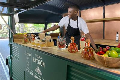 Patron partners Ned's Club for mobile bar
