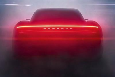 Porsche produces light show inspired by new model