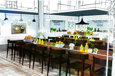 Peroni to bring Italian home experience to London