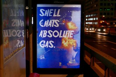 Shell protestors create ads decrying brand's sustainability marketing