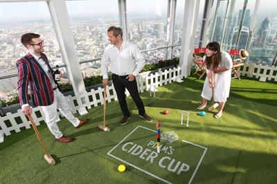 In pictures: Pimm's Cider Cup croquet lawn at The Shard