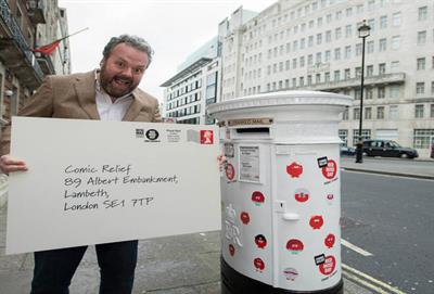Royal Mail creates laughing postbox for Comic Relief