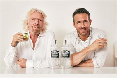 Ryan Reynolds and Sir Richard Branson team up to promote gin