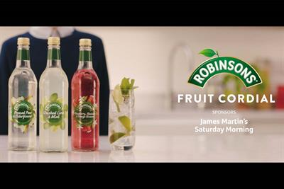Robinsons signs up to sponsor Saturday Morning with James Martin