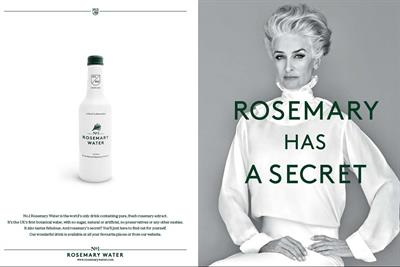 Rosemary Water bounces back from ASA ban with glossy double-page ads