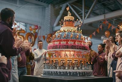 Sainsbury's 150th-anniversary TV spot tells a story through cake