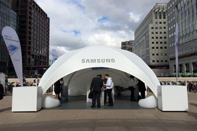 Samsung brings recharging station to Canary Wharf