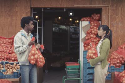 Love blooms between rival onion cafes in Samsung's quirky smartphone campaign